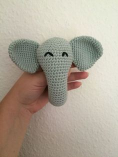 crochet elephant baby rattle free pattern You are in the right place about knittings quotes Here we Crochet Mittens, Mittens Pattern, Crochet Toys, Free Crochet, Irish Crochet, Blanket Crochet, Crochet Animals, Knit Crochet, Crochet Elephant