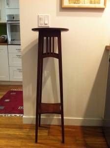 Ethan Allen Mission/Shaker Style Plant Stand Or Art Table. Cherry With A  Warm