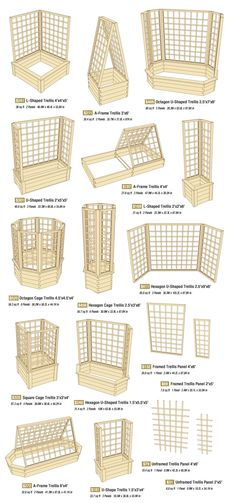 Easy assemble, modular cedar trellises in any shape or size.
