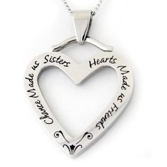 Chance Made Us Sisters Stainless Steel Necklace, Adult Unisex