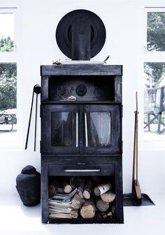 The wood burning stove