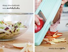 Shredded brussels sprout, apple & kohlrabi salad / @loveandlemons    Sans the cheese.......... OH yeah!