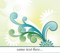Abstract Floral Retro Design Vector Wallpaper