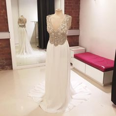 This Stunning Vintage Style Anna Campbell Wedding Dress From Jean Jackson Couture We Shortened