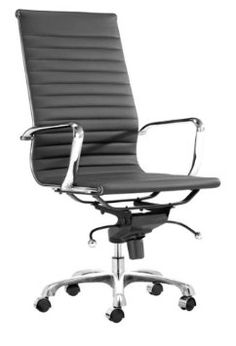 High Back- Black Executive  Amazon.com: Zuo Modern Lider Office Chair, White: Home & Kitchen