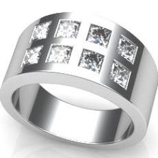 Goldmaid anillo Eternity 925 Sterling plata dorado 40 circonita blanco real joyas