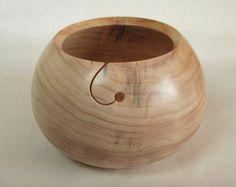Wood Knitting Bowl -  Black Poplar