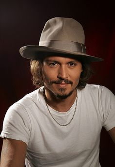 Johnny Depp, male actor, celeb, famous, hat, beard, hair style, intense eyes, eye candy, steaming hot, sexy guy, portrait, photo