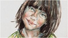 Watercolor realistic portrait painting step by step workshop