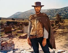 The Man with No Name poncho can also be ordered from Cimarron. Charles Bronson, Ray Charles, Clint Eastwood Poster, I Movie, Movie Stars, Movie Trivia, Quentin Tarantino, Peliculas Western, Chapeau Cowboy