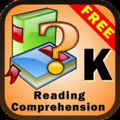 Reading Comprehension - Fiction for Kindergarten and First Grade Free. This reading comprehension app has twenty stories about young children's daily life. You can also create and add your own stories to the app.  Each story has about 90 - 120 words.