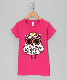 Loving this Hot Pink Girly Owl Tee - Girls on #zulily! #zulilyfinds