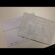 Luxe ELLERY fashion week invitations