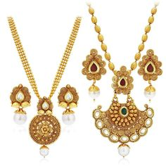 Buy Sukkhi Jewellery Set for Women (Golden)(388CB1400) Online at Low Prices 776bd2c86d