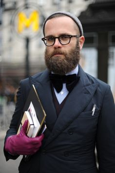BOW TIES | Angelo Flaccavento, Italian Fashion Journalist | At Dries Van  Noten Show, · Beard CareBald MenTextureBow ...