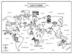 la carte des chats du monde colorier demilie lapeyre editions