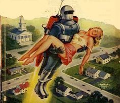 Blast-off with a Babe! ~  Science Fiction Quarterly, 1954.