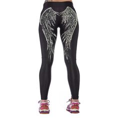 Womens YOGA Workout Gym Digital Printing Sports Pants Fitness Stretch Trousers BEst Seller