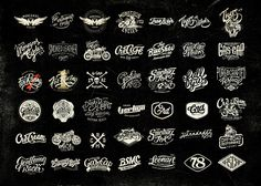 A compilation of Motorcycle logos by Alex Ramon Mas on Behance