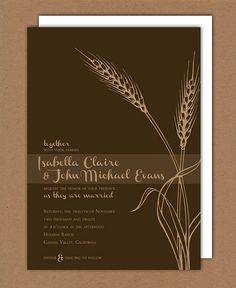 Fall Harvest wedding invitations ($75)