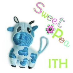 Cow stuffed toy ITH in the hoop 6x10
