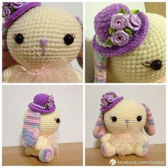 Crotchet bunny with hat