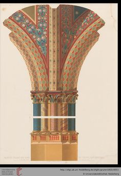 Painted pillar and ribs by Giotto. Tafel 41