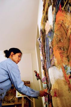 Celebrity artists at work: Yu Ling (AKA Lucy Liu) why even bother acting if you can paint like this. Actually, Lucy Liu exhibs under the pseudonym Yu Ling, so as not to draw more attention to herself. But she recently held an exhibit in London under her own name and has published a book filled with her artwork. Her paintings are beautiful and it's refreshing to see a celebrity who is humble enough to let their work speak, not their famous name.