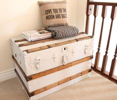 A Junky Trunk. Paint and add wheels or legs to make coffee table.