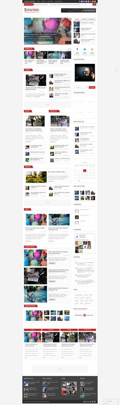 EffectiveNews - Responsive WP News Magazine blog - #wordpress #theme #template #website #design #webdesign #magazine #blog