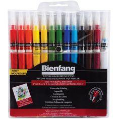 Bienfang Watercolor Brush Pens 12/Pkg-- Speedball Art Products $17