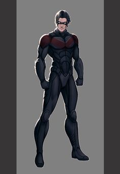 It occurred to me recently just how cool Nightwing really is. When you think about it he's the original free runner of the DC universe. Robin Dc, Batman Robin, Dc Comics Art, Batman Comics, Batman Concept, Batman Redesign, Robin Cosplay, Batman Universe, Dc Universe