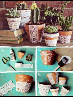 cool DIY flower pots – DIY diy making – Famous Last Words Clay Pot Crafts, Fun Crafts, Diy And Crafts, Flower Pot Crafts, Butterfly Crafts, Cool Diy, Fleurs Diy, Deco Nature, Ideias Diy
