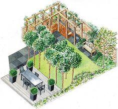 From Claire Mee's pergola swing garden