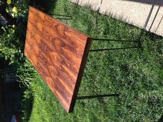 DIY Mid-Century Modern dining table that I made from a big old coffee table and some thrifted hairpin legs! Table, Modern Dining Table, Diy Dining Room, Midcentury Modern Dining Table, Diy Dining Room Table, Old Coffee Tables, Coffee Table, Dining, Dining Table