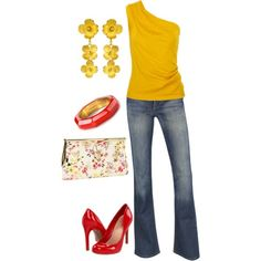 Yellow and Red Outfits | yellow red - salsa dancing outfit