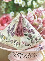 Triangle shape pincushion with tassle