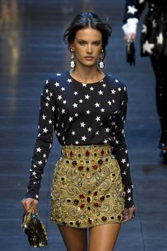 Stars. Gems. Dolce and Gabanna. Alessandra Ambrosia. Fashion.