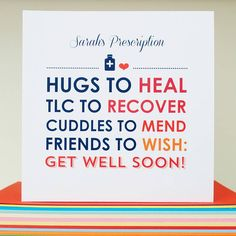 personalised 'get well soon' card by come for a dream ...