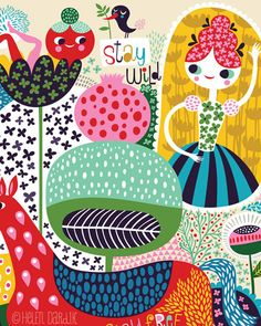 Stay Wild...  limited edition giclee print of an original