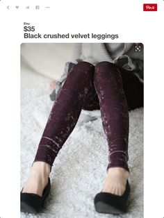 950b256729721 Purple and black Velvet leggings by DGstyle on Etsy