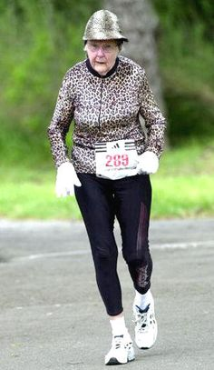 Who says there is an age to stop running? this motivates me to keep going! no excuses! this lady ROCKS!! www.facebook.com/tharperfitnessmotivation