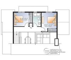 House plan W3965 detail from DrummondHousePlanscom Modern Cabins