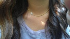 Infinity pearly white necklace/ gold by CecesJewelryBoutique, $9.25