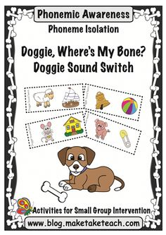 Teaching phonemic awareness.  Fun little freebie for isolating sounds!