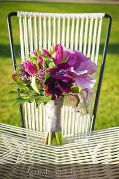 Bright purple by Arrangements Floral & Party Designs Bright Purple, Image Photography, Wedding Bouquets, Floral Arrangements, Glass Vase, Bloom, Wedding Ideas, Bridal, Party