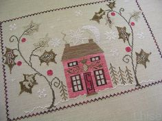 """Holly Manor"" - Blackbird Designs. From the BBD book, Peppermint and Holly."