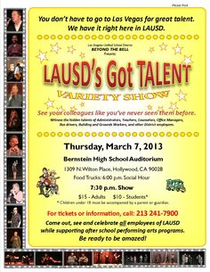 LAUSD's Got Talent. Save the Date