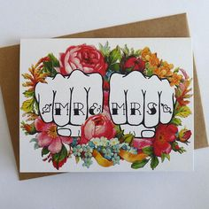 Make your invitations tattoo-themed. | 13 Rad Ideas For A Tattoo-Inspired Wedding