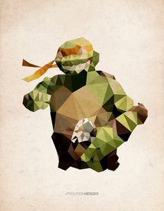 Polygon Heroes: Michelangelo. - double.
